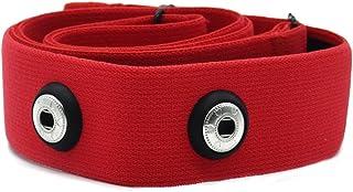 TAOPE Correa elástica Ajustable para el Pecho para medir el Ritmo cardíaco para Equipos Garmin Wahoo Polar, Color CooSpo Original HRM Belt