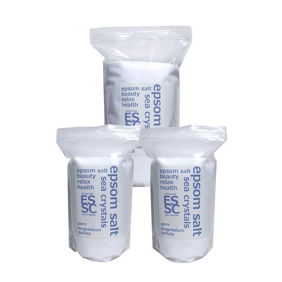 避けられないパケットネットシークリスタルス 国産 エプソムソルト (硫酸マグネシウム) 入浴剤 8.4㎏(2.2kgX2+4kg) 約56回分 浴用化粧品 計量スプーン付 無香料