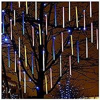 LEDの落ちる雨ライト、屋外防水流星群レインライト8チューブ50cm / 19.7インチホリデーパーティーの結婚式の装飾,Multicolors