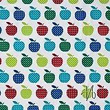 MIRABLAU DESIGN Stoffverkauf Baumwolle Batist Äpfel rot