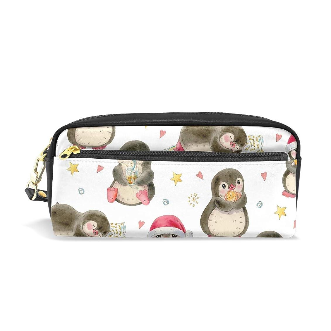 海洋山冬AOMOKI ペンケース 小物入り 多機能バッグ ペンポーチ 化粧ポーチ おしゃれ かわいい 男女兼用 ギフト プレゼント ペンギン アニマル 可愛い