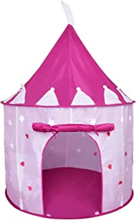 Rettebovon Princess Castle Play Tent with Glow in The Dark Stars Foldable Pop Up Pink Play Tent/House Toy for Indoor Kids Tent & Outdoor Children Tent (Classic)