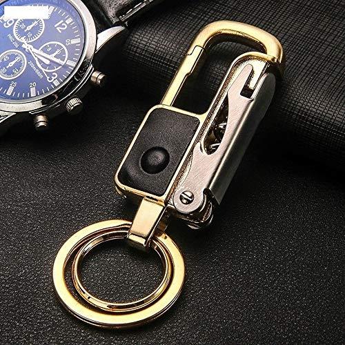 Preisvergleich Produktbild XXYHYQHJD Schlüsselanhänger mit Licht-Qualitäts-Schlüsselring-Frauen-Mann-Korkenzieher Schlüsselanhänger Weinlese-Keyfob Autozubehör (Color : Gold,  Size : Kostenlos)