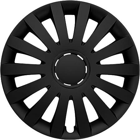 Cm Design 16 Zoll Wind Matt Schwarz Radkappen Radzierblenden Radblenden Für Fast Jeden Fahrzeugtyp Auto