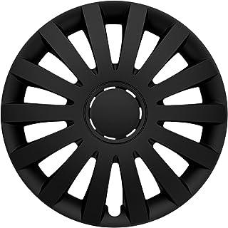 CM DESIGN Radkappen 16 Zoll Wind matt schwarz Radzierblenden für Fast Jede handelsüblich Stahlfelge