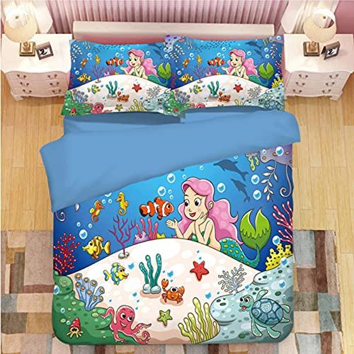 ysldtty 3D Panda Print Bedding Set Duvet Covers Pillowcases Comforter Bedclothes Bed Linen U-1218W 135CM x 200CM With 2 Pice Pillowcase 50CM x 75CM