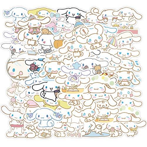 TUHAO Kawaii Cinnamo-Roll Anime Pegatinas Portátil Maleta Equipaje Graffiti Skateboard Teléfono San Río Pegatinas Dibujos Animados Niños Regalo 50pcs