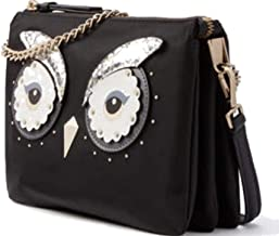 Kate Spade Star Bright Owl Madelyne Crossbody Handbag Black