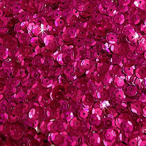 1400 Pailletten - Ø 6mm - Riesige Auswahl an Farben (Pink)