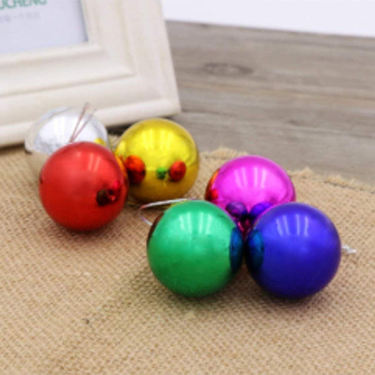 上回る哲学的占める24pcsクリスマスデコレーションボール3cm / 4cm / 6cm / 8cm / 10cmバレルカラーボールプラスチックメッキボールクリスマスツリーデコレーション-
