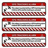 Finest-Folia 3 pegatinas para GPS para bicicleta, moto, coche, alarma, antirrobo, R057, color blanco