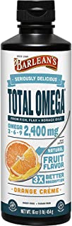 Barlean's Seriously Delicious Total Omega, Orange Crème, 16-oz (0705875000277)