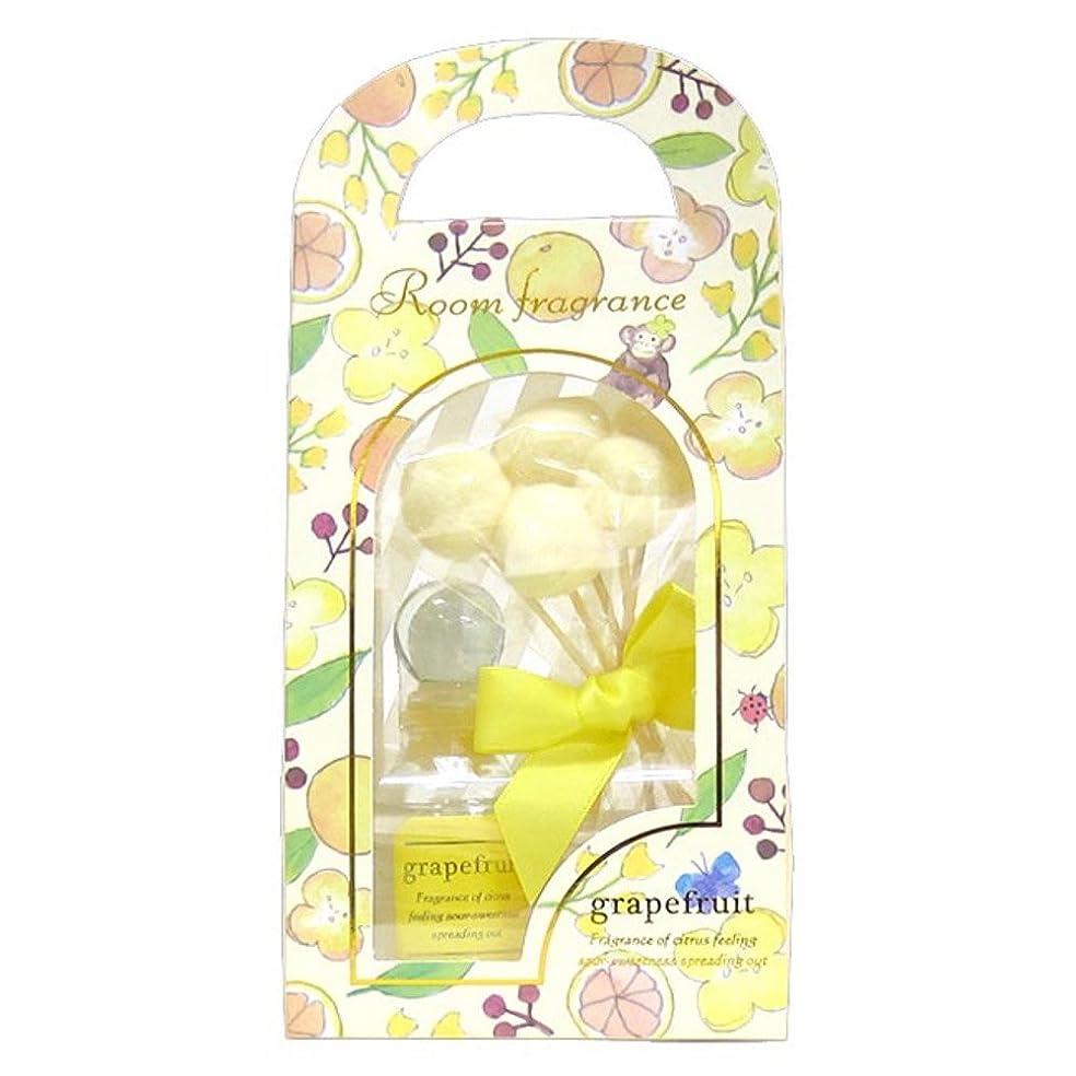 ロッドまろやかな給料サンハーブ ルームフレグランス グレープフルーツ 30mL (リードディフューザー 室内芳香 2-4週間 ロングセラー)