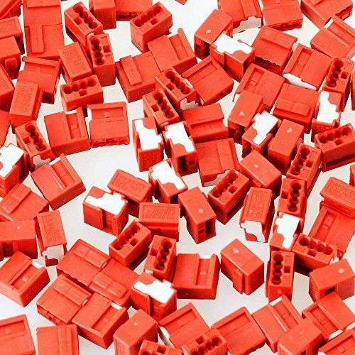 Wago Verb.dosenklemme 4x 0,6-0,8 mm rot 243-804 (100 Stück)