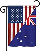 Breeze Decor - US Australia Friendship Flags of The World - Everyday Impressions Decorative Vertical Garden Flag 13
