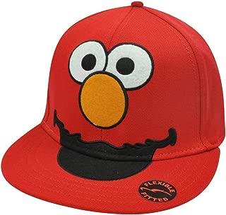 Sesame Street Elmo Face Flat Bill Cap