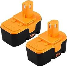 Boetpcr 2 Packs Replacement for Ryobi 18V Battery Ryobi ONE+ P100 P101 130224028 130224007 18-Volt Cordless Power Tools