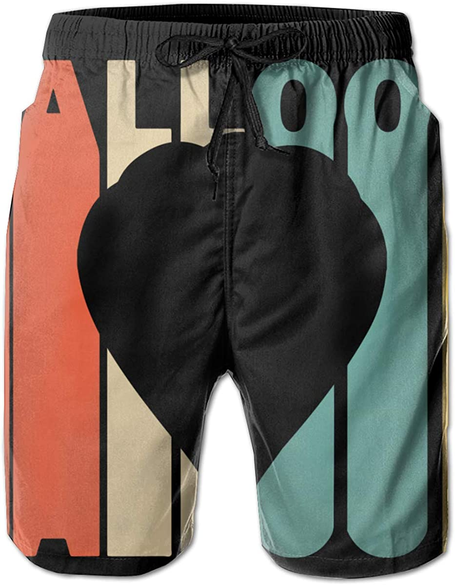 Retro Style Fire Balloon Price reduction Silhouette Daily bargain sale Beac Surf Swim Trunks Summer