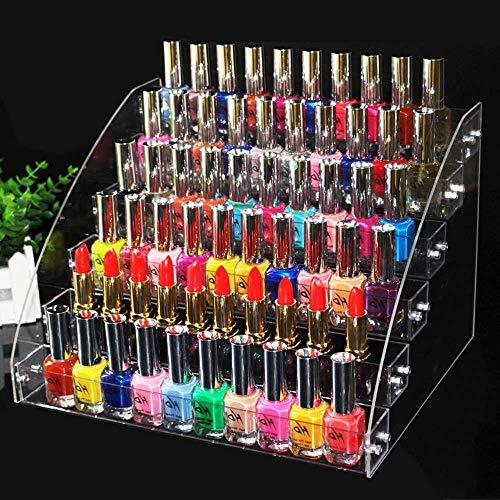 ForeWan Ölständer, Nagellack-Display, transparenter Acryl-Lippenstift-Halter, 6-layers