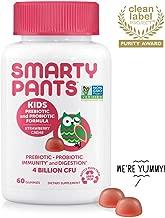 SmartyPants Kids Probiotic Formula Daily Gummy Vitamins; Immunity Boosting Probiotics & Prebiotics; Vegan, Gluten Free Digestive Support*; 4 billion CFU, Strawberry Crème, 60 Count (30 Day Supply)