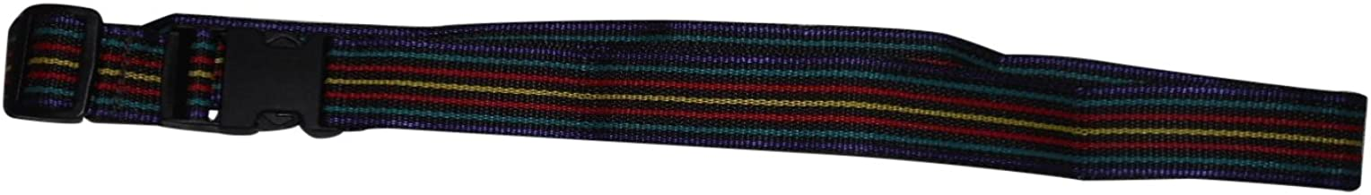 product image for Luggage Straps,Security Strap for Luggage Assorted Colors Made in U.s.a. (Red-Black-Yellow-Teal Strip)
