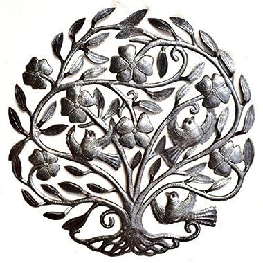 it's cactus - metal art haiti Flower Tree of Life, Haiti Metal Wall Art Sculpture, Steel Drum, 22.5  X 23