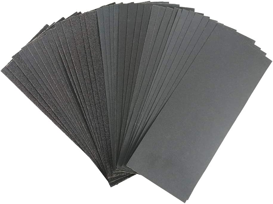 Sand Paper, Sander Sheets, 36PCS Sandpaper,Wet Dry Waterproof Sand Paper,80 to 800 Assorted Grit Sanding Paper for Wood Furniture Finishing and Metal Sanding (9 x 3.6 Inches)
