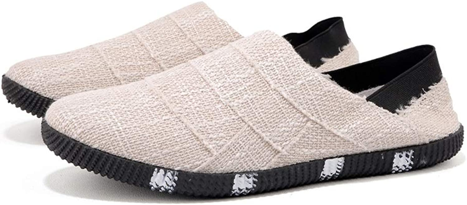 Trainers AHIZHEN Men's, Linen Canvas shoes, Spring and Summer Men's Casual shoes Breathable shoes for Men