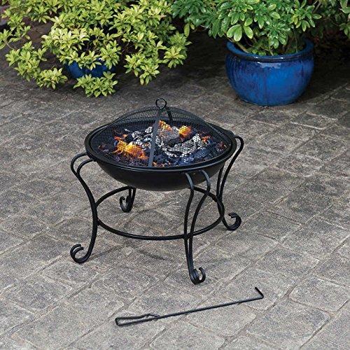 Outdoor Contemporary Boston Black Garden Patio Fire Pit