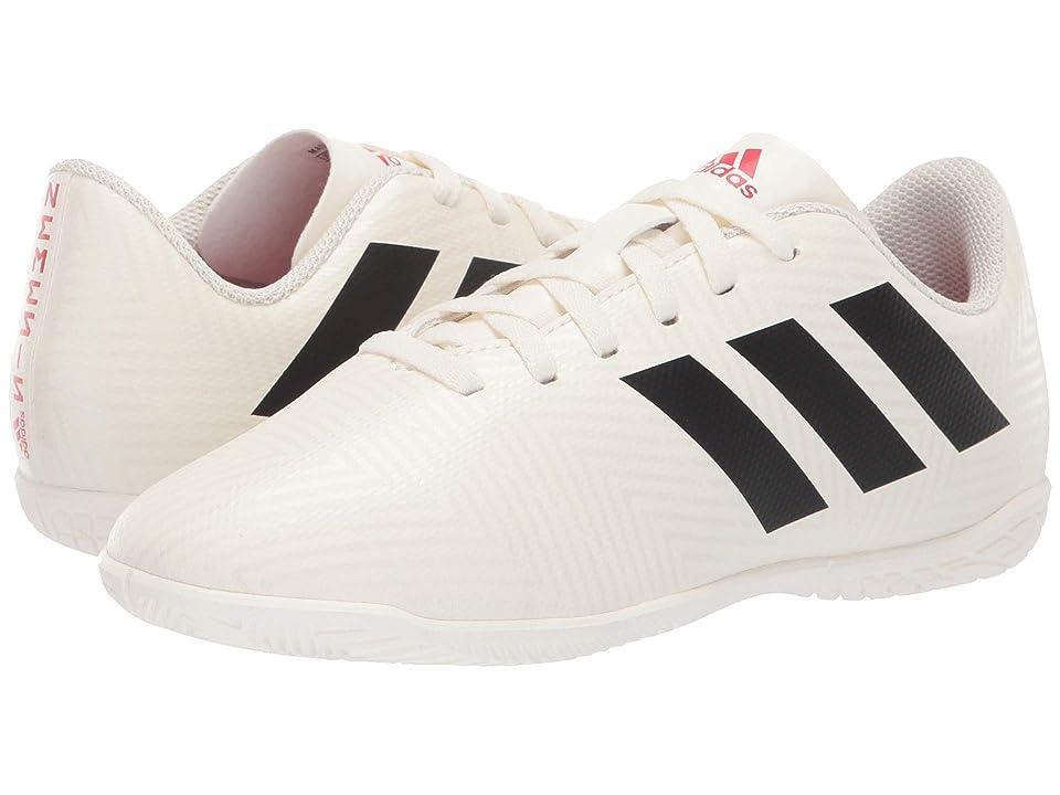 adidas Kids Nemeziz 18.4 IN Soccer (Little Kid/Big Kid) (Off-White/Black/Active Red) Kids Shoes