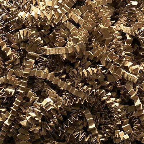 Faltpapierschnipsel, Geschreddertes Papier, Zick-Zack/Wellenschnitt–Ideal für die Füllung von Geschenkkörben und Geschenkboxen, 500 g