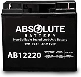 AB12220 12V 22AH SLA Battery for Electric Bicycle Co EV Warrior