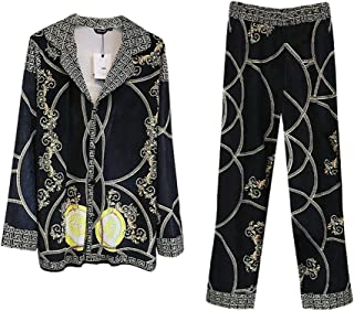 パジャマスーツ、 秋と冬のベルベットのメンズパジャマ、 ベルベットパジャマ 家庭用衣類 プリントパジャマ 2セット