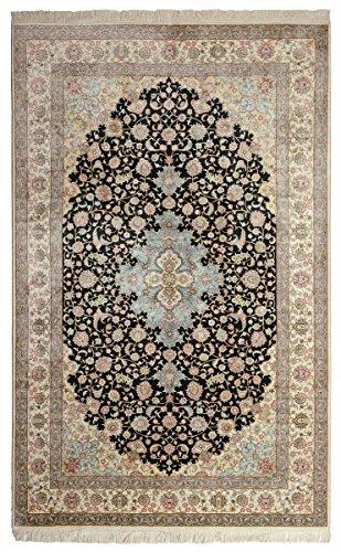 Nain Trading Herike Seide 244x152 Orientteppich Teppich Dunkelgrau/Beige Handgeknüpft China