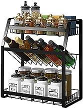 رف تخزين منظم التوابل للمطبخ بحجم صغير 3 طوابق من ناناناو، تخزين تنظيم الخزانة، منظم منظم منظم ادوات المطبخ ورفوف الخزانة،...