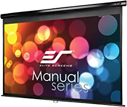 Elite Screens Manual Series, 106-INCH 16:9, Pull Down Manual Projector Screen with AUTO LOCK, Movie Home Theater 8K / 4K Ultra HD 3D Ready, 2-YEAR WARRANTY, M106UWH