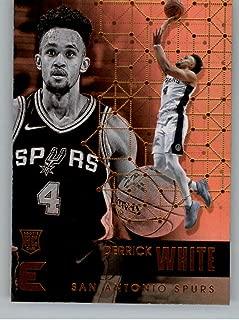 2017-18 Panini Essentials #103 Derrick White San Antonio Spurs Rookie RC Card NBA Basketball Card