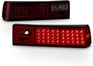 ACANII - For 1987-1993 Ford Mustang Red Smoked LED Tail Brake Lights Lamps Left+Right Pair
