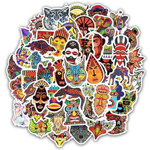 50 Etnische Totem Stickers Dier Mandala Bohemen Tribal Masker Tattoo Decoratie Sticker Diy Bagage Laptop Reizen