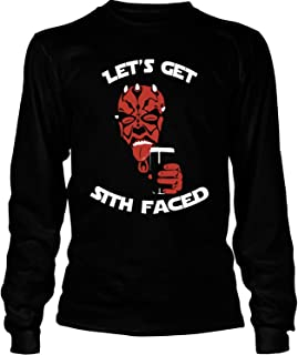 COLOSTORE Darth Maul Grunge T Shirt, Let's Get Sith Faced T Shirt - Long Sleeve Tees