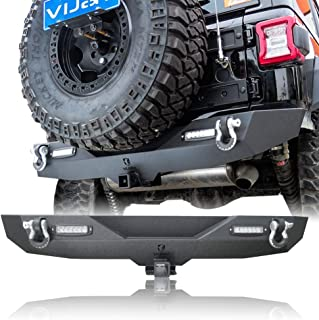 Hunter Rear Bumper With Hitch Receiver & 2x 18 LED Lights for 2018-2019 Jeep Wrangler JL