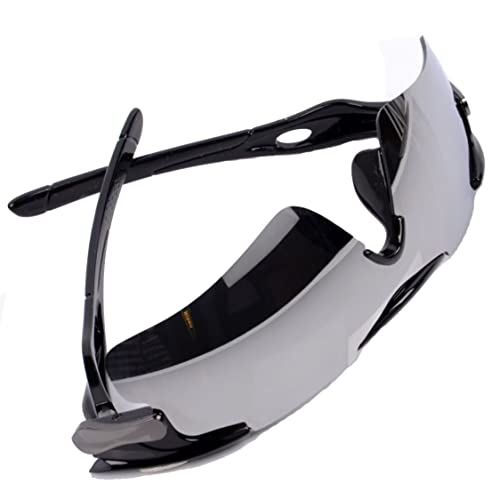 c559a409258 Flowertree Men s SP604 Half Frame Semi Rimless Air Vented Sport Shield 72mm  Sunglasses