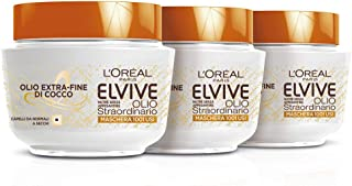 L 'Oréal Paris Elvive Extraordinary Oil End Of Coconut Oil for Hair Nutrient Mask Normal To Dry, 300ml–3Packs