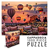 Puzzles for Adults 1000 Piece Jigsaw Puzzle | Cappadocia Hot Air Balloons at Sunset | Landscape Nature Puzzles | 27' w x 20' h