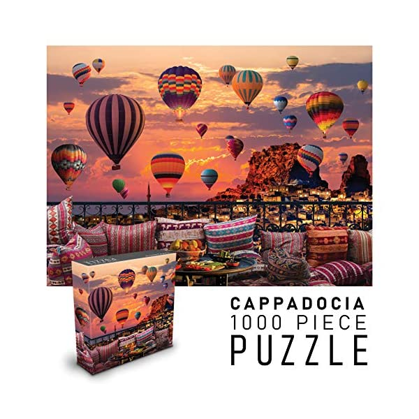 Puzzles for Adults 1000 Piece Jigsaw Puzzle | Cappadocia Hot Air Balloons at Sunset | Landscape Nature Puzzles | 27″ w x 20″ h