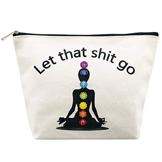 This Funny Yoga-Themed Makeup Bag