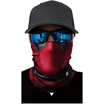 Seamless Rave Bandana Dust Wind Sun UV Protection Neck Gaiter Mask Face Scarf