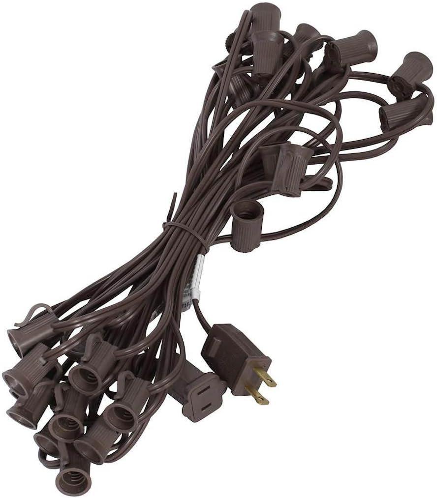 Vickerman 360521 - 1000 Light Brown Wire Empty Houston Mall 1000' Candelabra free