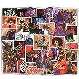 FORYOURS 50Pcs Jazz Music Graffiti Autocollant Guitare Corps Autocollant Réfrigérateur Valise Informatique Autocollant De Voiture Ukulélé