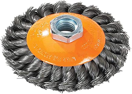 15,000 RPM Carbon Steel Wire PFERD 83583 ECAP Encapsulated Stem Mounted End Crimped Wire Brush 3//4 Diameter.010 Wire Diameter Pack of 10